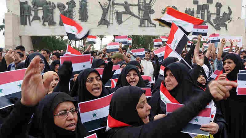 Iraqis Protest U.S.-Led Airstrikes Against Syria