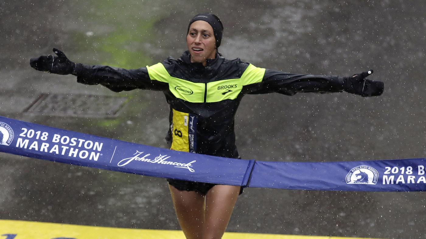 9fc9228594f Desiree Linden Wins Boston Marathon — The First U.S. Woman To Win Since  1985   The Two-Way   NPR