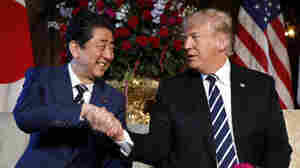 Trade And Nukes On The Agenda As Trump Meets Japan's Prime Minister
