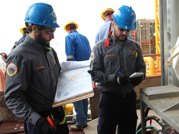 BSEE engineers inspect Royal Dutch Shell's new Appomattox floating platform on March 27, 2018. The agency says ten inspectors spent three days in the facility.