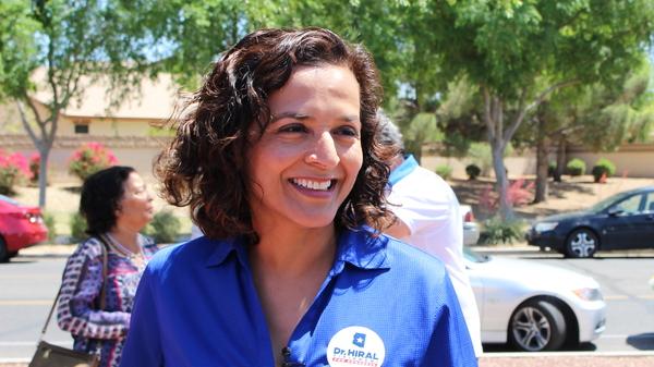 Democratic candidate Hiral Tipirneni campaigns in Arizona