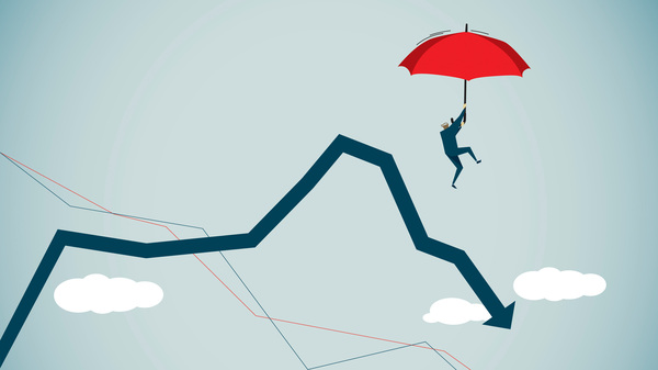 Illustration of looming debt crisis.