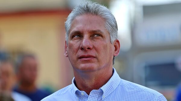 The man who now leads Cuba: Miguel Mario Díaz-Canel Bermúdez, 57. The Communist Party operative, seen here in Santa Clara last month, was elected president of the island nation Thursday.