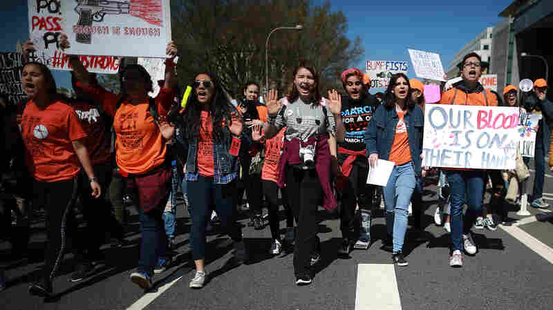 19 Years After Columbine, Students Walk Out To Stop Gun Violence