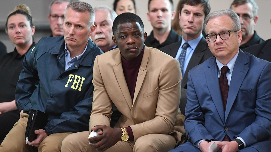 """I think anybody could've did what I did,"" said James Shaw Jr., who disarmed a gunman at a Nashville-area Waffle House, where four people were killed. He spoke at a news conference with law enforcement officials on Sunday. (Jason Davis/Getty Images)"