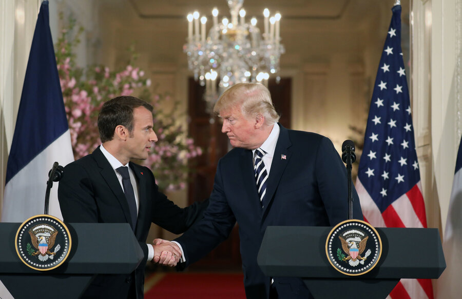Image result for macron, trump, photos