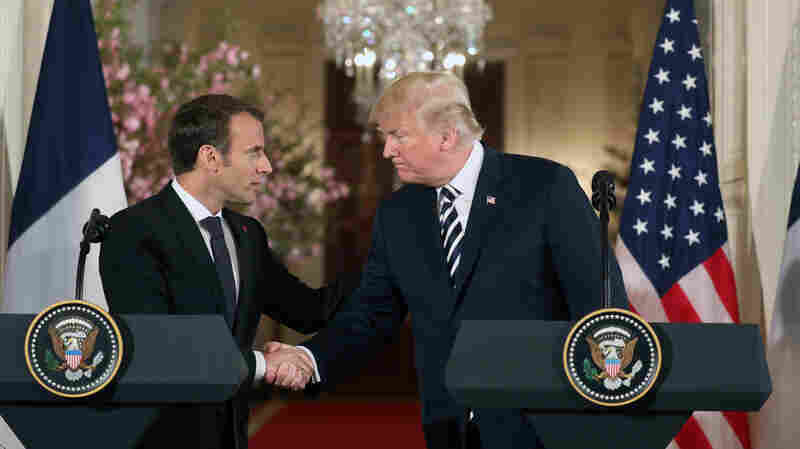 Trump, Macron Hold Joint Press Conference During State Visit