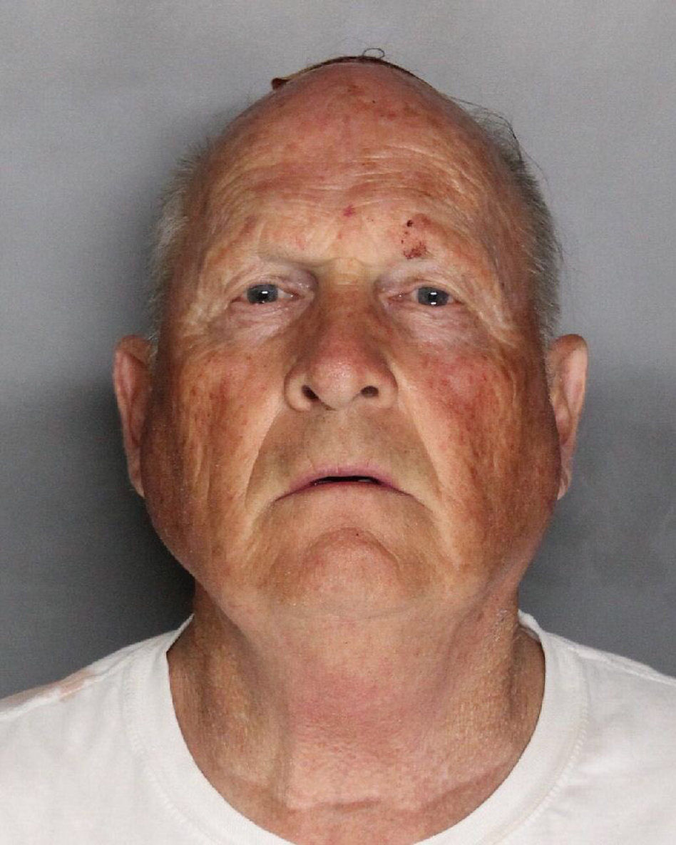 Joseph James DeAngelo, a suspect in a series of killings in California, was arrested Tuesday. (Sacramento County, Calif., Sheriff's Office via AP)