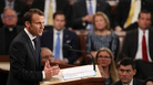"French President Macron told members of Congress ""we are living in a time of fear"" in the U.S. and Europe."