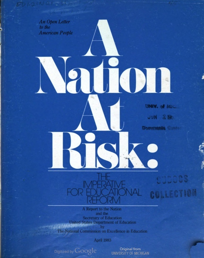 What 'A Nation At Risk' Got Wrong, And Right, About U.S. Schools : NPR Ed :  NPR