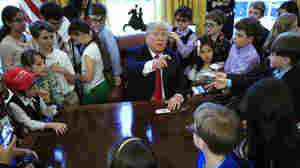Kids Of White House Reporters Take Over, And Trump Seems To Prefer It