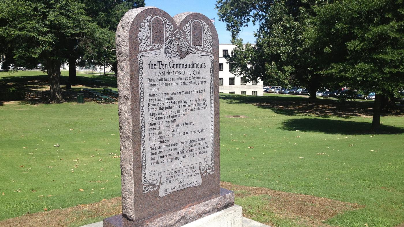 Arkansas Installs A New Ten Commandments Monument At Its Capitol : The  Two-Way : NPR