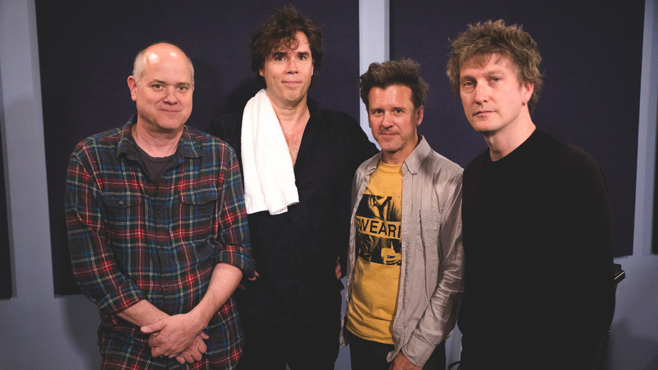 Superchunk inside the World Cafe Performance Studio