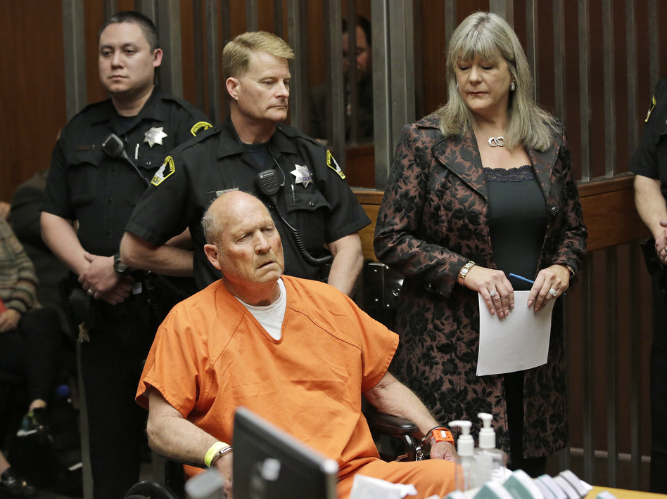 Joseph James DeAngelo, who authorities suspect is the so-called Golden State Killer responsible for at least a dozen murders, is arraigned in Sacramento, Calif., on Friday. (Rich Pedroncelli/AP)