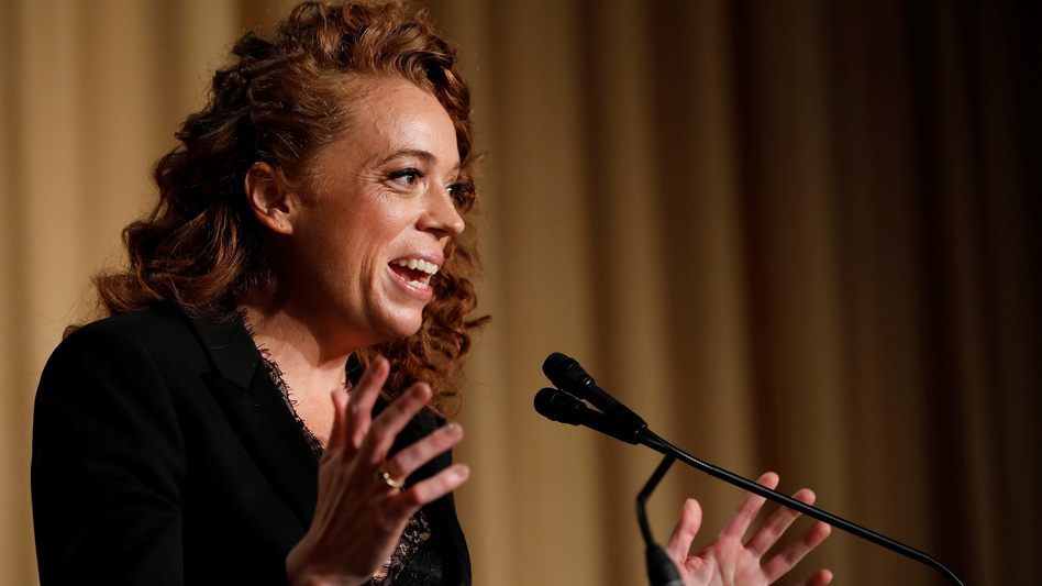 Comedian Michelle Wolf performs at the White House Correspondents' Association dinner in Washington on Saturday. (Aaron Bernstein/Reuters)