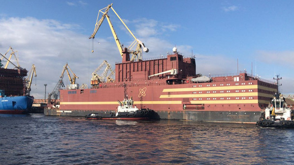 "The Akademik Lomonosov, which the Russian energy company Rosatom calls ""the world"
