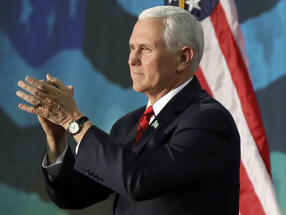 Vice President Pence will deliver the keynote address at the annual NRA convention in Dallas on Friday in front of an audience that won't be carrying any guns. (Chuck Burton/AP)