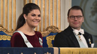 Sweden's Crown Princess Victoria, 40, and her 44-year-old husband, Prince Daniel, attend the Swedish Academy's annual meeting last December in Stockholm.