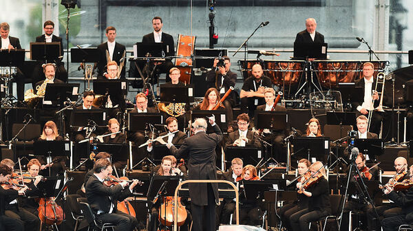The London Symphony Orchestra, performing with conductor Valery Gergiev in London