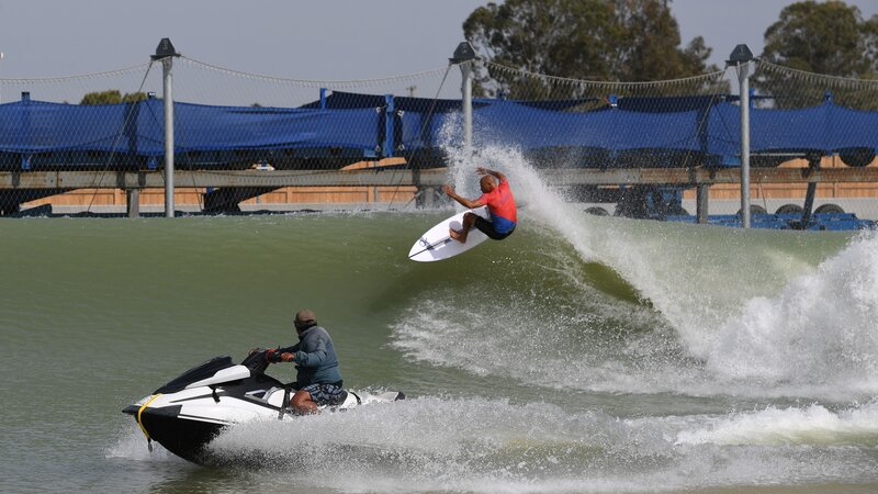 91cc3d6b55 Surfers Head Inland To Compete On Machine-Made California Waves   NPR