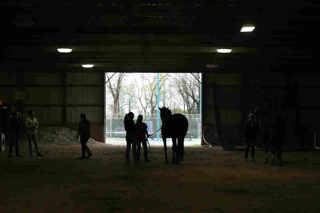 One of the barns at Midway.