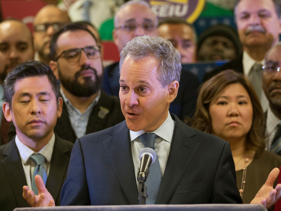 New York Attorney General Eric Schneiderman is resigning amid allegations that he physically abused four women with whom he was in relationships. (Mary Altaffer/AP)