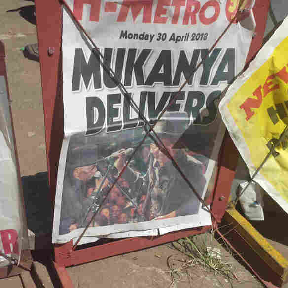 A newspaper's front page proclaimed Mapfumo's return a success.