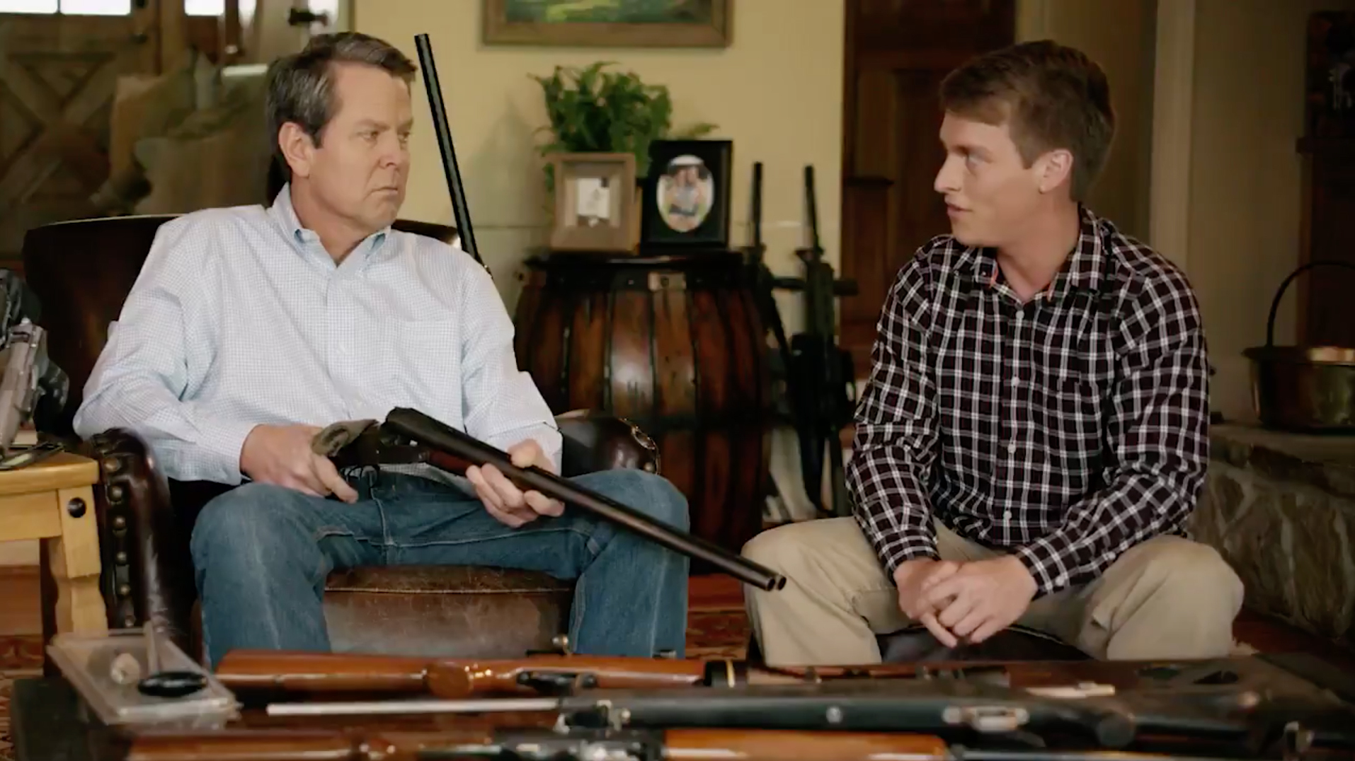 A Campaign Ad In Georgia Showing Brian Kemp Pointing A Gun At A Young Man Has Spurred Backlash Npr