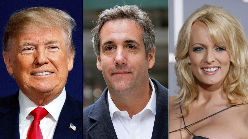 A new document alleges that a powerful Russian, and not President Trump, may have reimbursed attorney Michael Cohen for his payment to porn actress Stormy Daniels. (AP)
