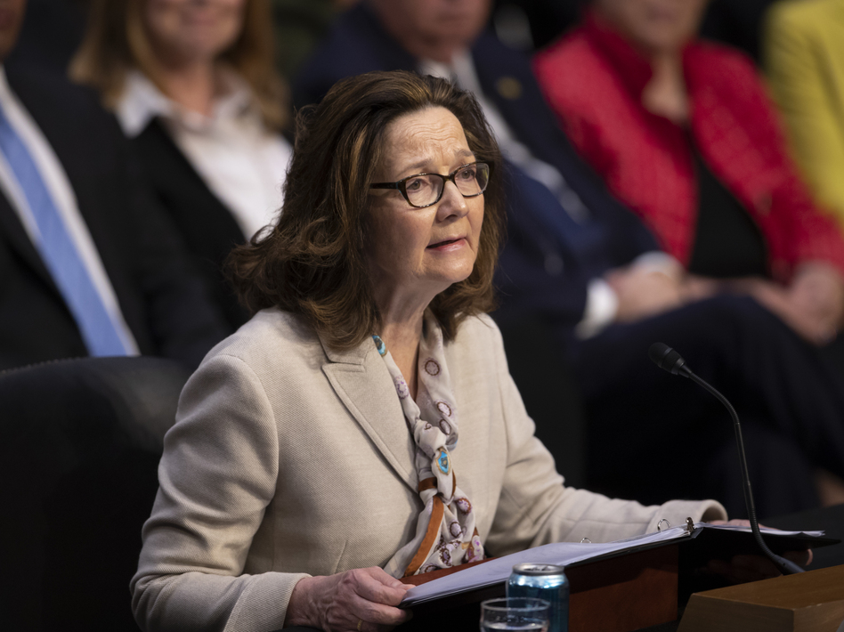 Haspel testifies at a Senate Intelligence Committee hearing Wednesday. (J. Scott Applewhite/AP)