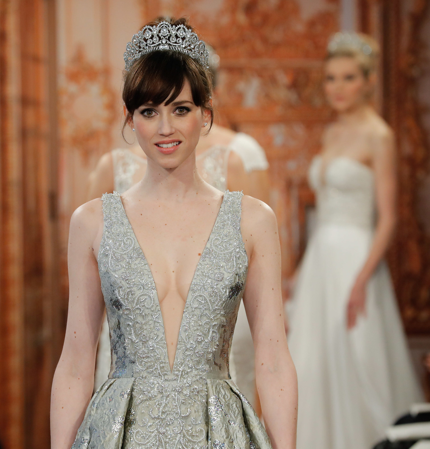 Brides Everywhere Are Saying Yes To The Low-Cut Dress : NPR