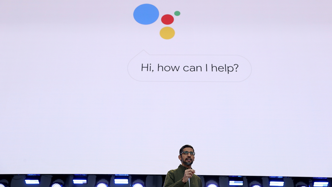 Google's New Voice Bot Sounds, Um, Maybe Too Real : The Two-Way : NPR
