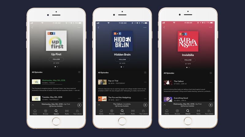 NPR And Spotify Team Up To Feed Your Podcast Addiction : NPR Extra : NPR