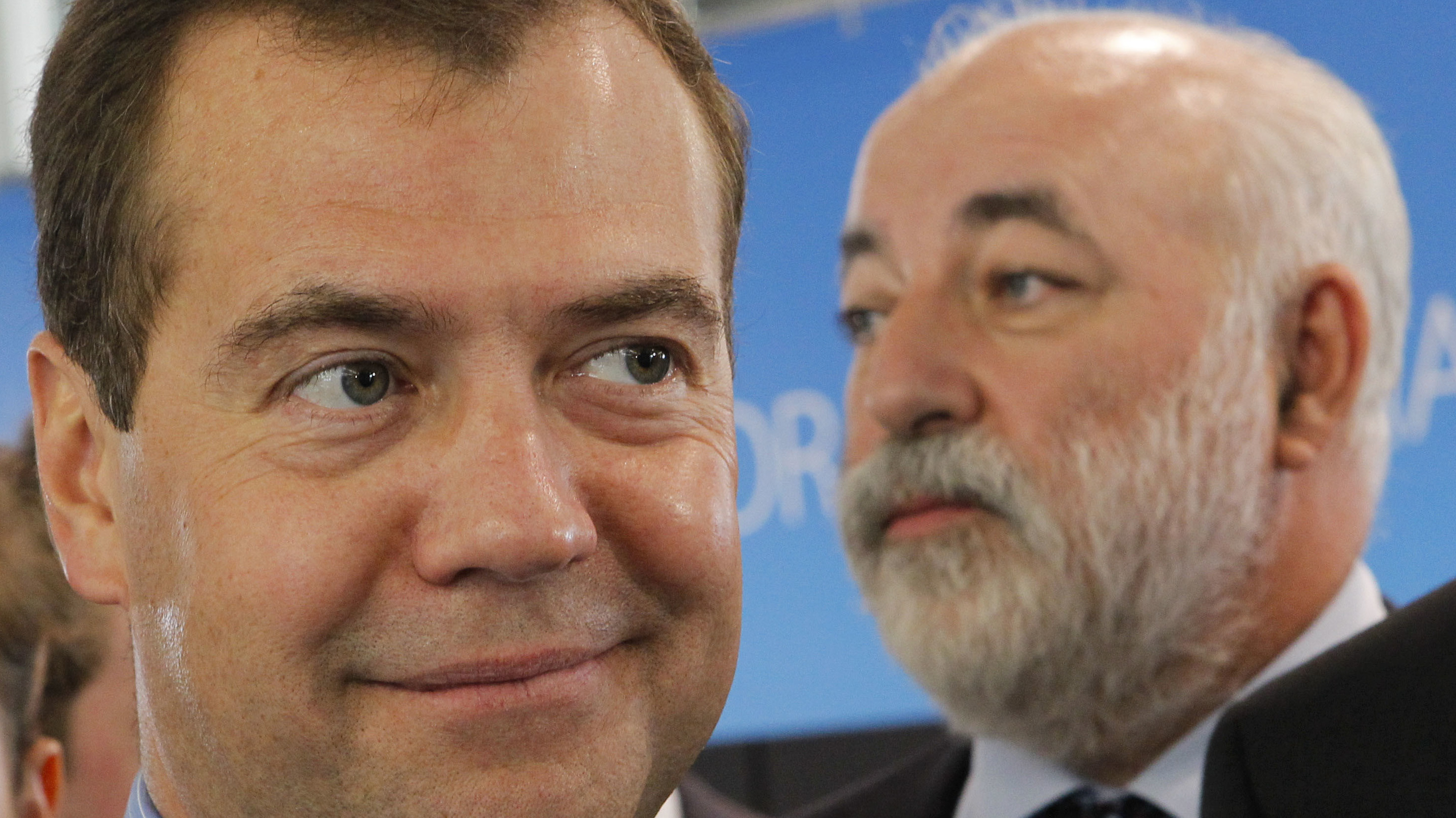 Russia's Prime Minister Dmitry Medvedev left and billionaire Viktor Vekselberg launched a foundation that the FBI warned was a clandestine attempt to pilfer American technical secrets
