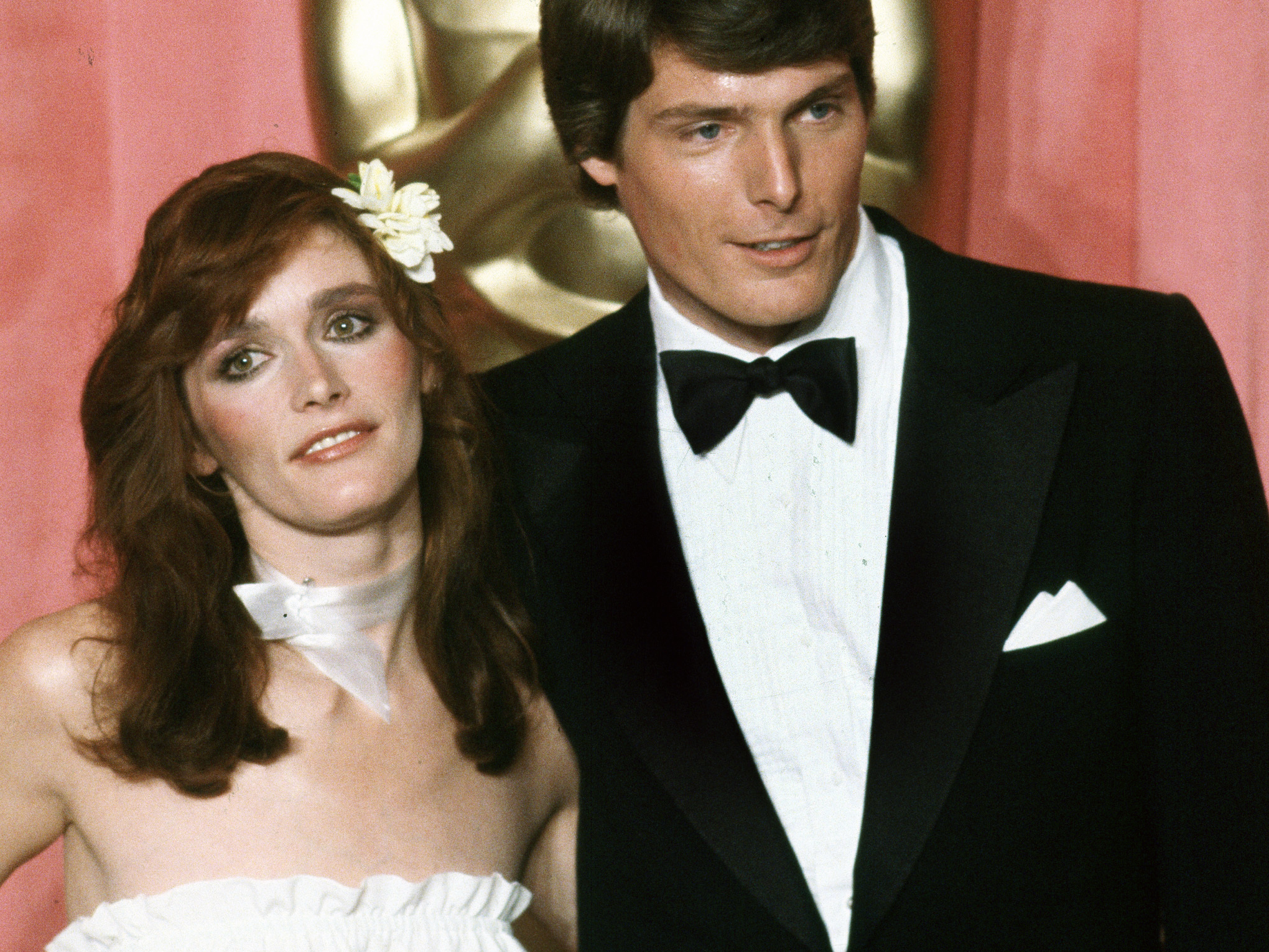 Actress Margot Kidder is seen here with her Superman co-star Christopher Reeve