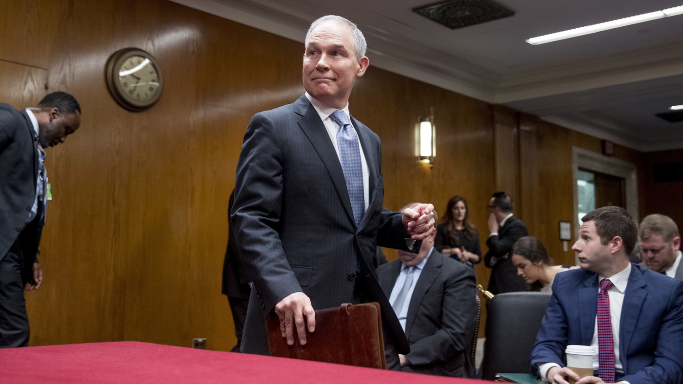 photo image EPA's Scott Pruitt, Subject Of Many Ethics Probes, Plays Defense Before Senate
