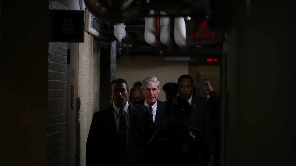 Special counsel Robert Mueller leaves after a closed meeting with members of the Senate Judiciary Committee last June at the Capitol in Washington, D.C. (Alex Wong/Getty Images)