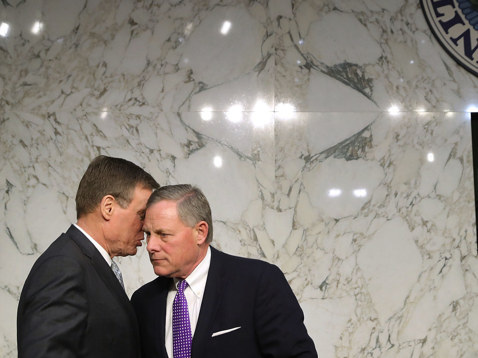 The Senate intelligence committee, led by chairman Richard Burr (right) and vice chairman Mark Warner, endorsed with their colleagues the findings of the U.S. intelligence community. (Chip Somodevilla/Getty Images)