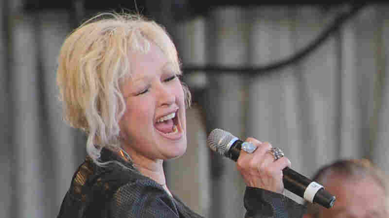 Cyndi Lauper performs during the 2011 New Orleans Jazz & Heritage Festival.