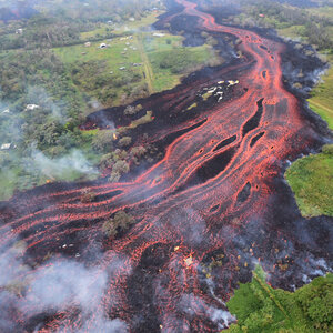Hawaii Volcano's Lava Spews 'Laze' Of Toxic Gas And Glass Into The Air