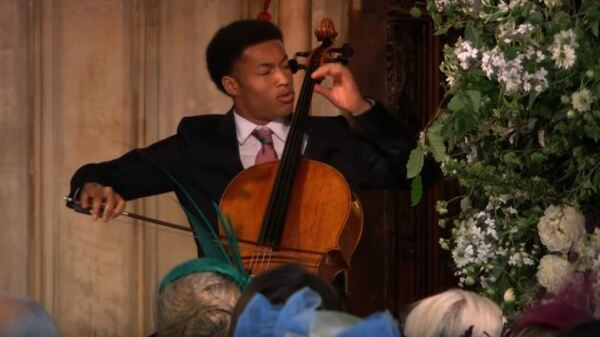 Sheku Kanneh-Mason performs for millions at the royal wedding of Prince Harry and Meghan Markle.