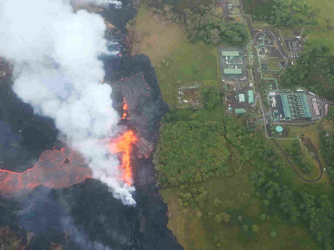 The lava flow in Hawaii is smaller than you might be picturing