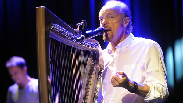 French harper and singer Alan Stivell rehearses in Saint-Brieuc, France on November 3, 2015.