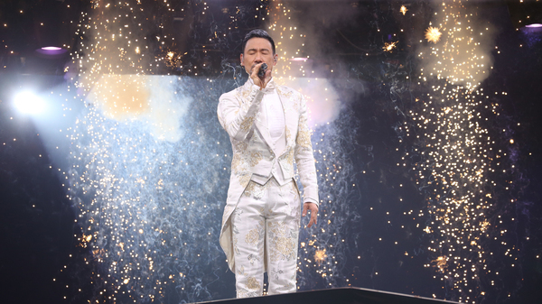 """Chinese superstar Jacky Cheung performs onstage during his """"A Classical Tour"""" concert at Hong Kong Coliseum on Dec. 4, 2016."""