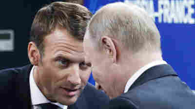 In Russia, France's Macron Tries His Next Charm Offensive On 'Cher Vladimir'