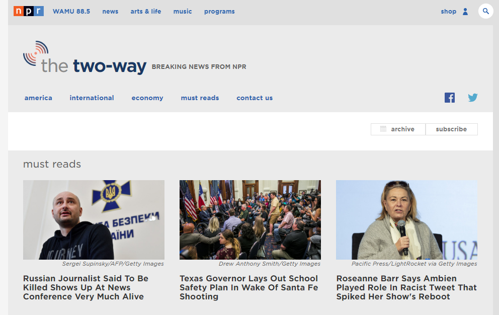 Two Way Blog screenshot