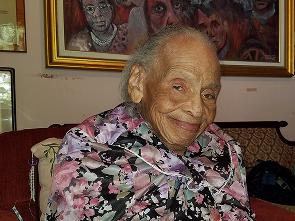 Ninety-seven years after the Tulsa Race Riot of 1921 took place, Oliva Hooker, 103, is thought to be the last surviving witness. (Nellie Gilles/Radio Diaries)