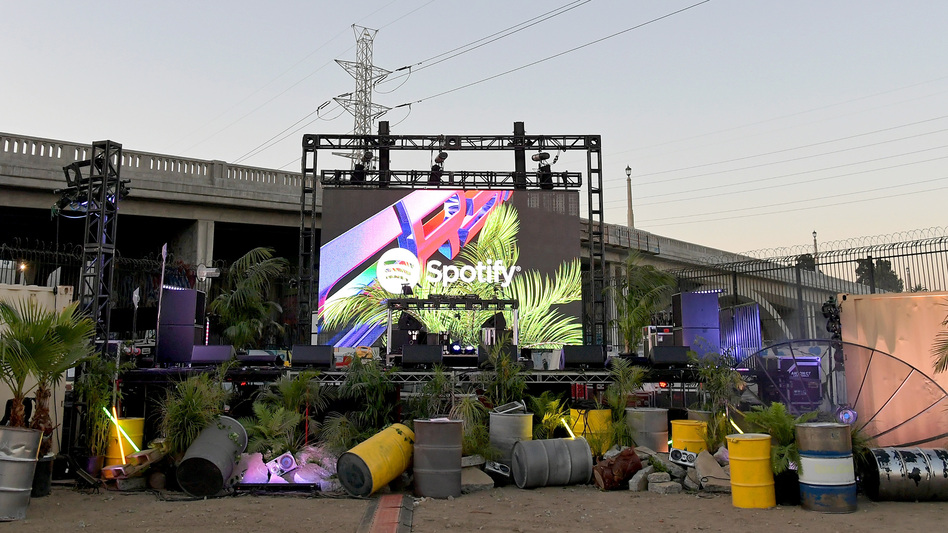 The music streaming service Spotify was both criticized and celebrated for implementing a policy addressing the conduct of artists — a position it rolled back June 1, 2018. (Charley Gallay/Getty Images for Spotify)