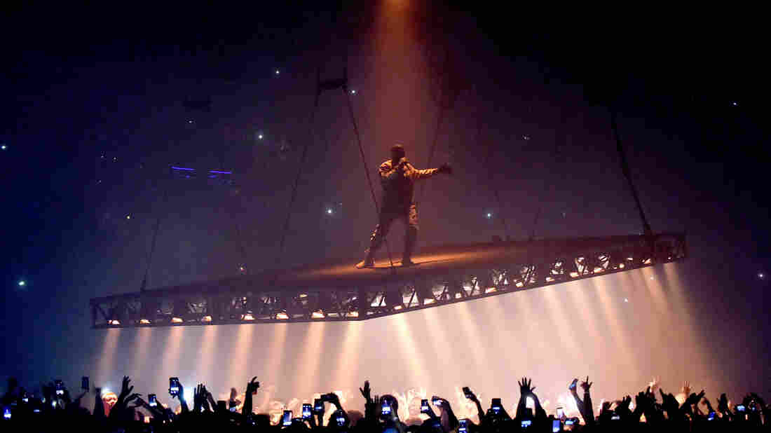 Kanye West performing in Los Angeles in 2016.