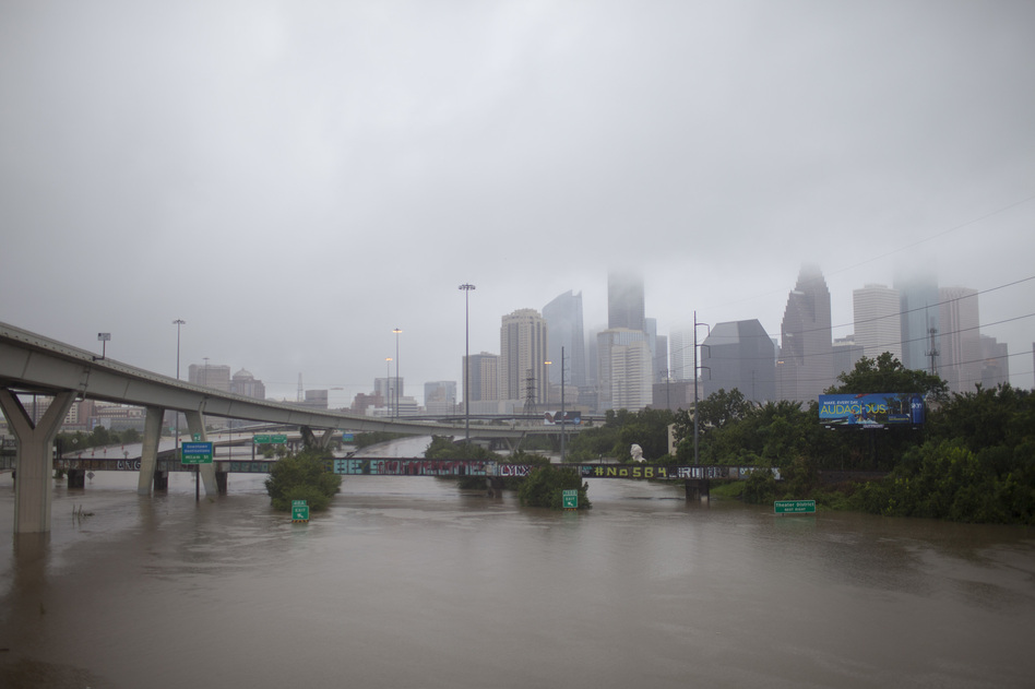 After Hurricane Harvey hit the Texas coast in August 2017, the storm stalled over Houston and dumped as much as 60 inches of rain on some parts of the region. (Katie Hayes Luke for NPR)